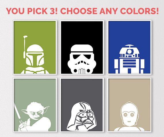 Star Wars Wall Art, Star Wars Prints, Star Wars Baby, Star ...