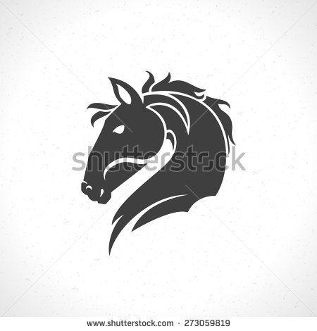 Horse Face Logo Emblem Template Mascot Symbol For Business Or Shirt