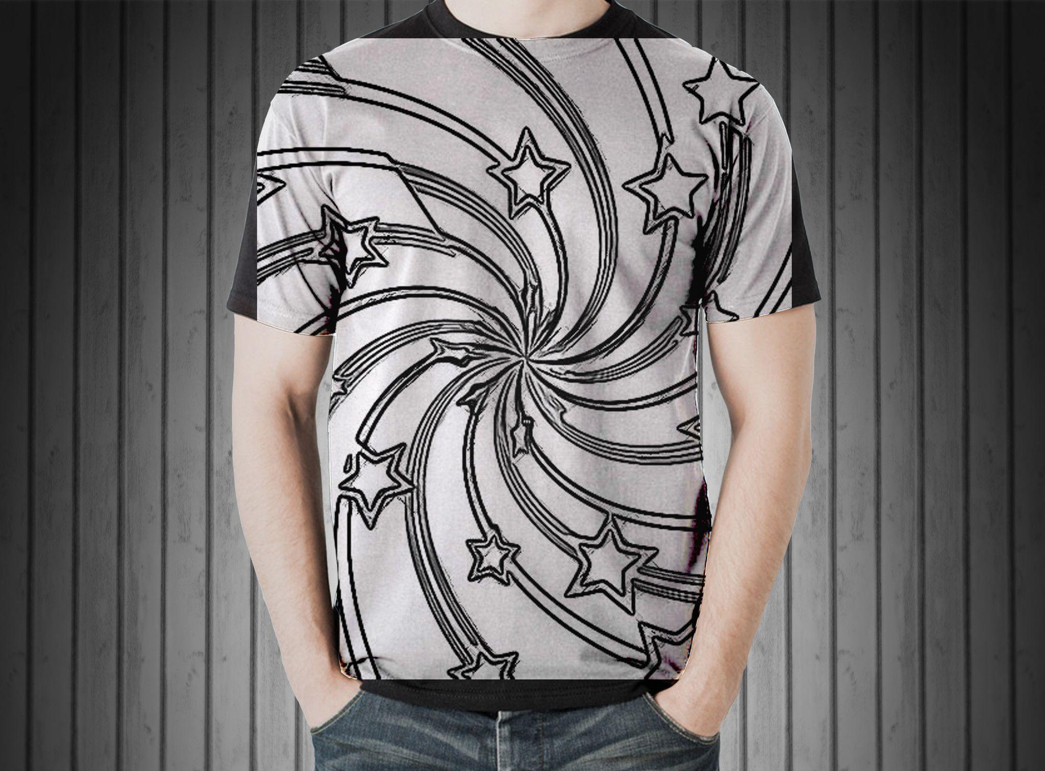 T-Shirt - Star christmas pattern texture