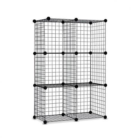 6 cube wire storage cabinet diy metal display shelf bookcase rh pinterest com