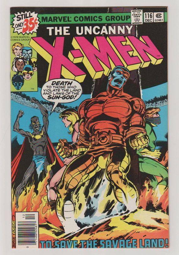 Uncanny X Men Vol 1 116 Bronze Age Comic Book Nm 9 2 Etsy Comic Book Covers Comics Comic Covers