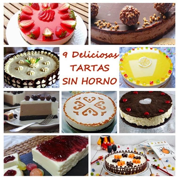 Si no eres muy 'amigo' del horno, te encantarán las tartas que han recopilado en este post desde el blog COCINANDO A MI MANERA. ¡No necesitas encenderlo para hacerlas!