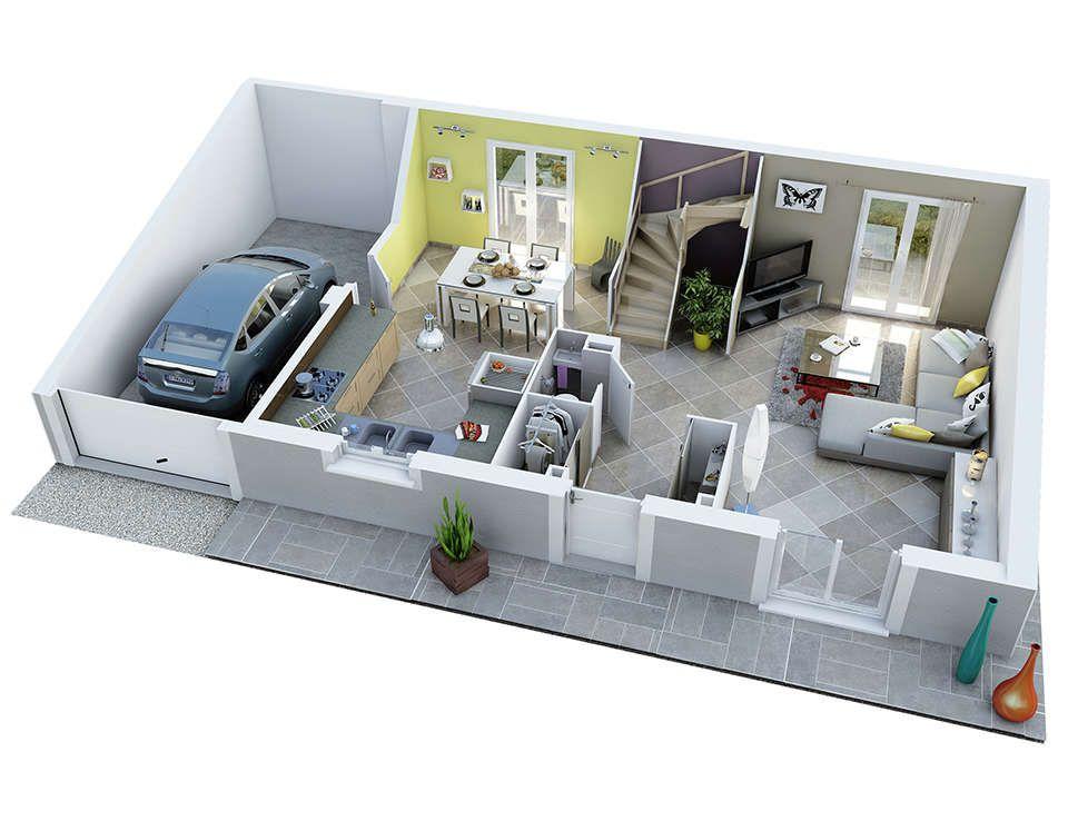 esterel rdc bd rdv72 plantas de casas Pinterest Bedrooms - Logiciel De Maison 3d