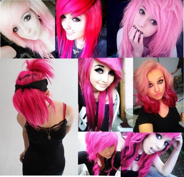 """Pink Hair!"" by i-walk-alone-94 ❤ liked on Polyvore"
