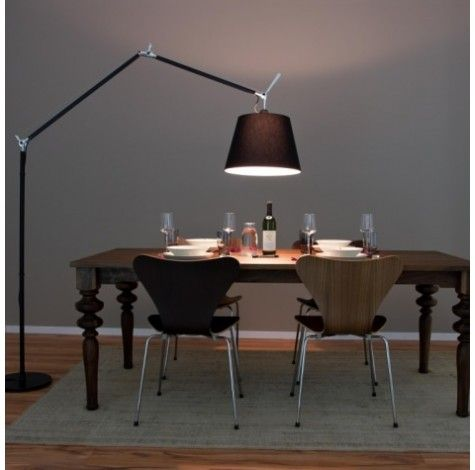 Artemide Tolomeo Mega Terra Black Floor Lamp Insitu For