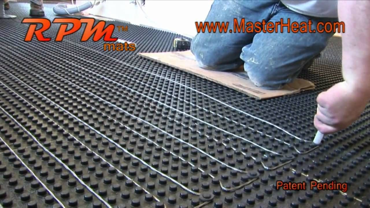 in floor heating Radiant Heating RPM DO IT YOURSELF The heating wire ...