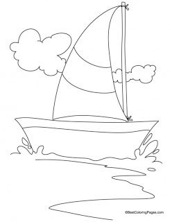 Yacht Coloring Pages Drawing Images For Kids Coloring Pages For