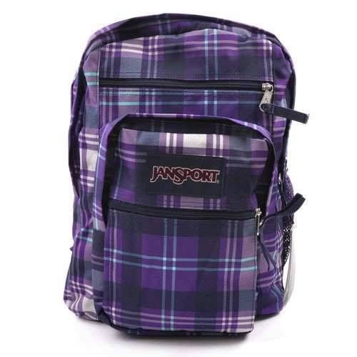 Jansport Big Student Backpack Purple Night Preston Plaid Men Women Girl  Book Bag  Jansport  Backpack  OrlandoTrend 0af91e4df9325