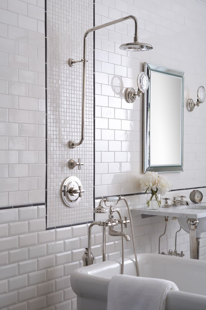 Ceramic subway tile bathroom. MADE by ANN SACKS in collaboration ...