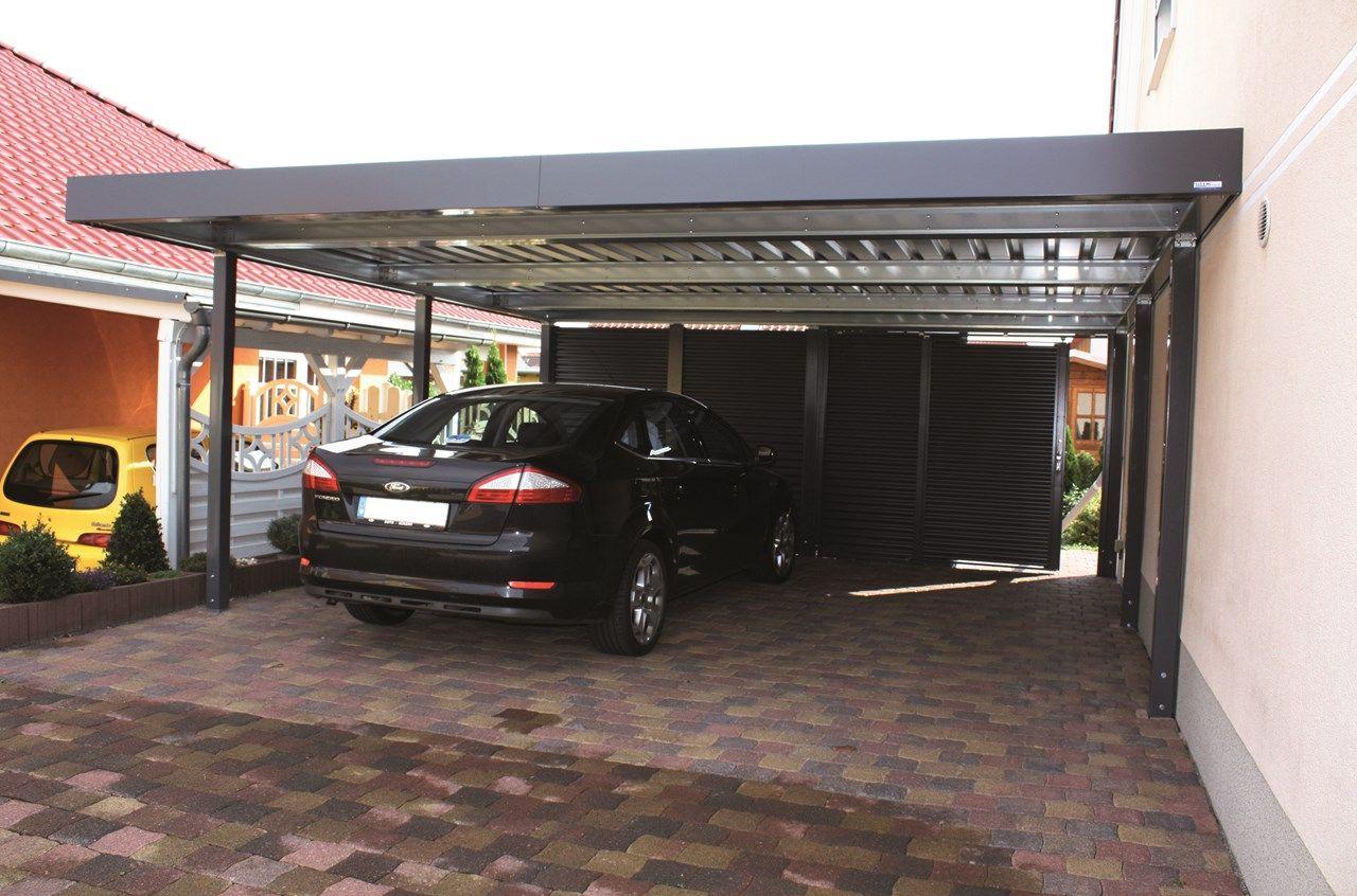 Siebau Carport 2 58 M Breit In Modularer Bauweise Carport Einzelcarport Flachdach