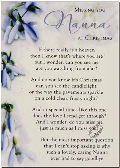 Missing Nana At Christmas Time Miss You Family Quotes Heaven In