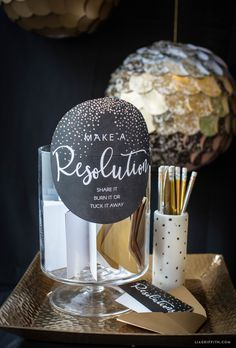 Printable New Year's Resolution Cards - Lia Griffith