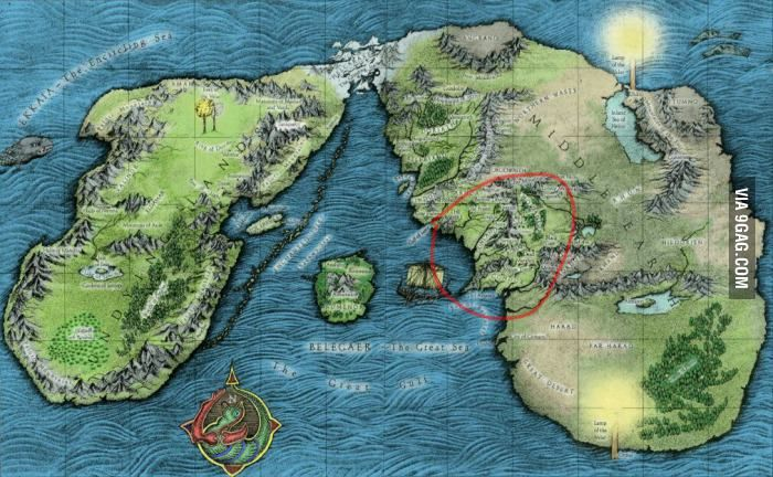 Lord Of The Rings World Map This is the full original map of the Lord of The Rings and The