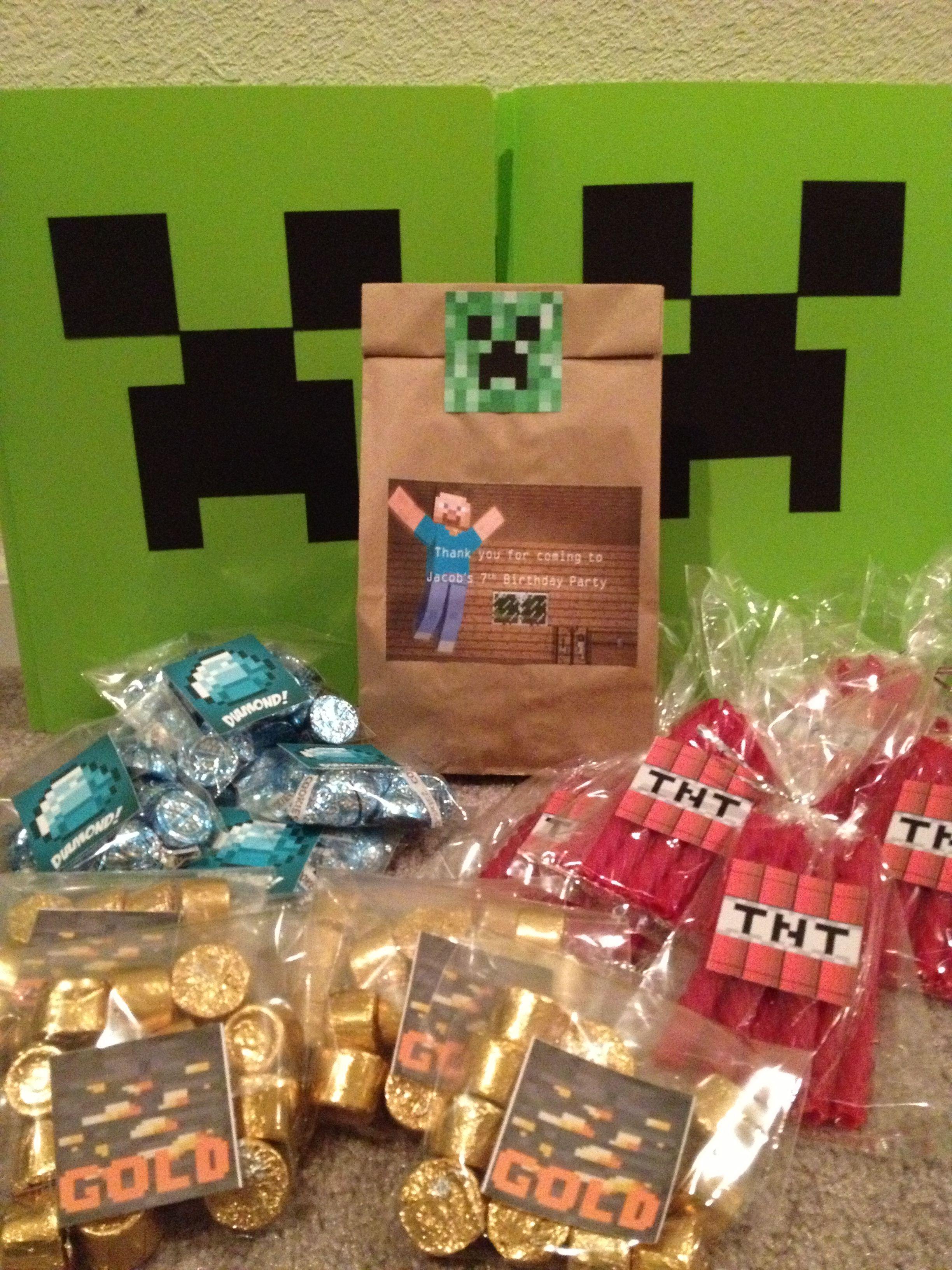 minecraft party favors party pinterest. Black Bedroom Furniture Sets. Home Design Ideas