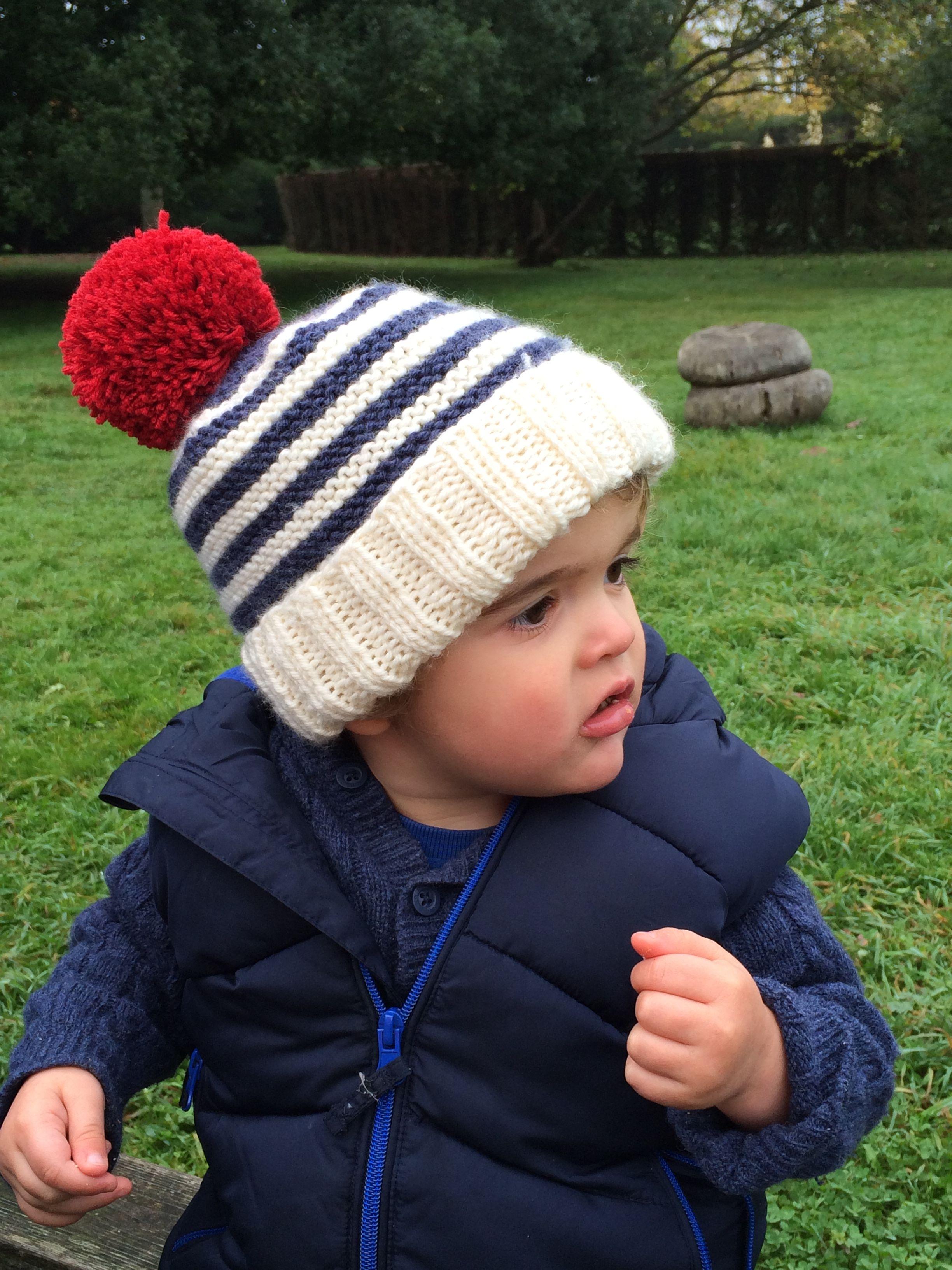 free knitting pattern for toddler bobble hat | knitting | Pinterest ...