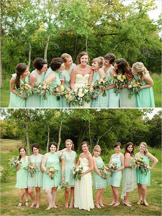 Madrinhas estilo americano #cor #menta #bridesmaids
