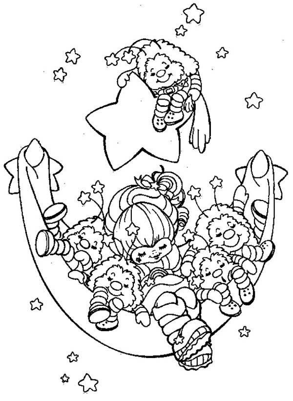 Rainbow Brite And Friends Are Sleeping Coloring Page Color Luna In 2020 Cartoon Coloring Pages Coloring Pages Coloring Books