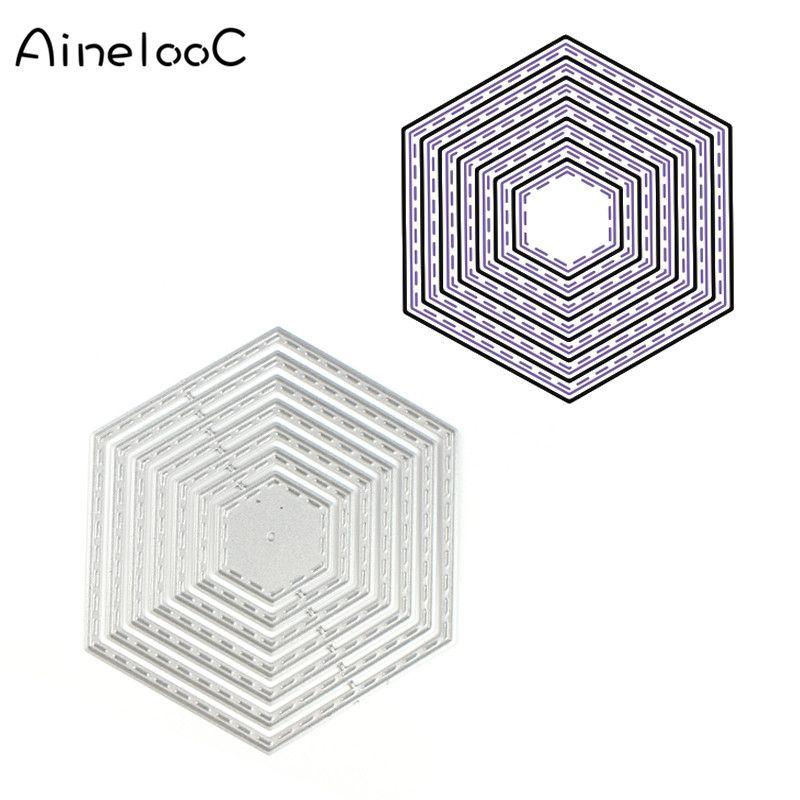 Rhombus Frame Metal die Cutting Dies Template Stencils for ...