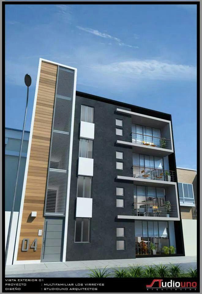 Multifamiliar multifamiliares pinterest fachadas for Fachadas edificios modernos
