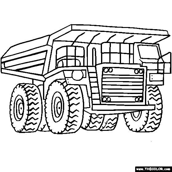 Digger Coloring Pages For Kids Coloring Page For Boys Trucks
