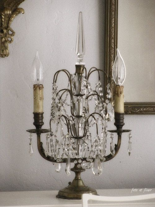 I Have Two Electrified Tabletop Chandeliers Similar To This Haven