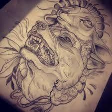Traditional Werewolf Tattoo