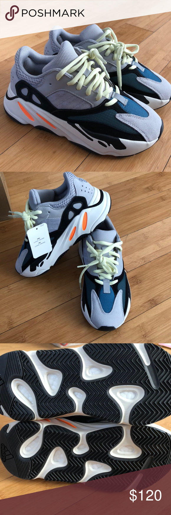 362d7c2b7fa47 Yeezy boost 700 size 4 1 2 men s. Women s size 5 Non authentic (fake) Yeezy  boost 700 wave runners in size 4 1 2 men s. Women s size 5 1 2. Never worn.