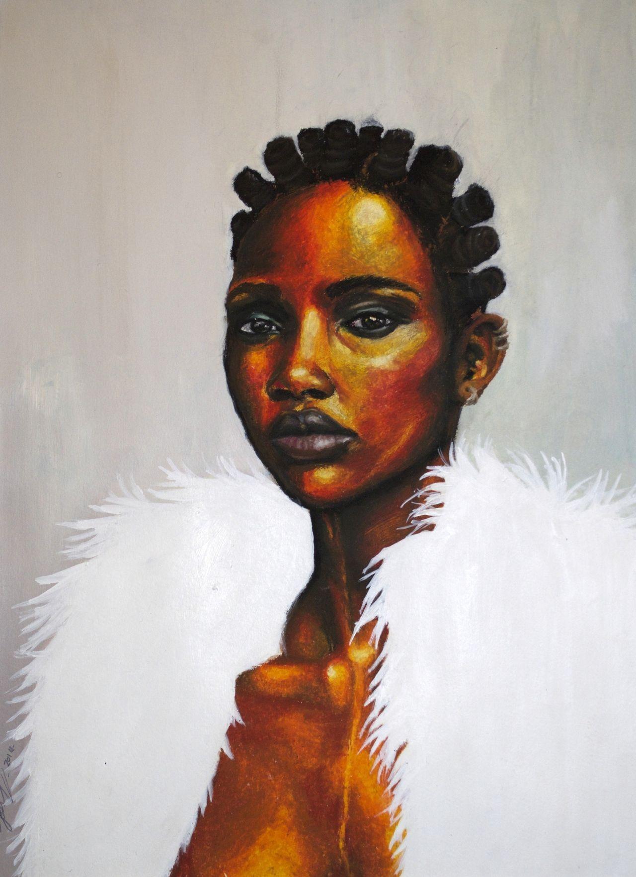 "Fyblackwomenart "" Negro Woman"" Oil Pastels And Acrylic Coloured Conversations"