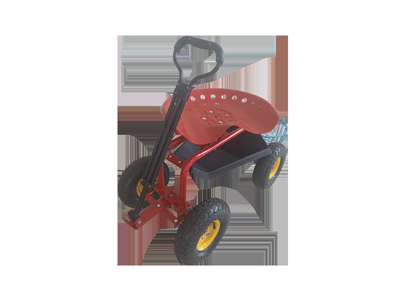 Garden Seat Cart Garden Seating Multipurpose Tools Wheelbarrow