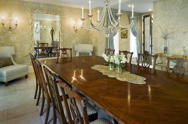 This dining room features Niermann Weeks Danieli ...