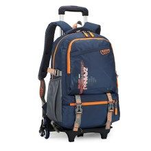 e848b6a743 ZIRANYU Detachable Rolling Children School Shoulder Bag Luggage Trolley Bags  with 6 Durable Wheels - Orange