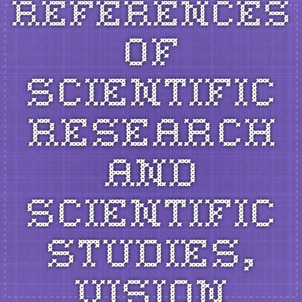 References of Scientific Research and Scientific Studies, Vision Therapy, Strabismus, Convergence Insufficiency, Peer Reviewed Journal Articles, National Eye Institute