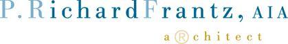 Design and produce Logo/Identity for P. Richard Frantz, Pottstown, PA,  Registered Architect