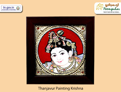 Thanjavur paintings are timeless & classic. Gift this painting of naughty little Krishna to yourself this festive season http://bit.ly/1Nl7c3l