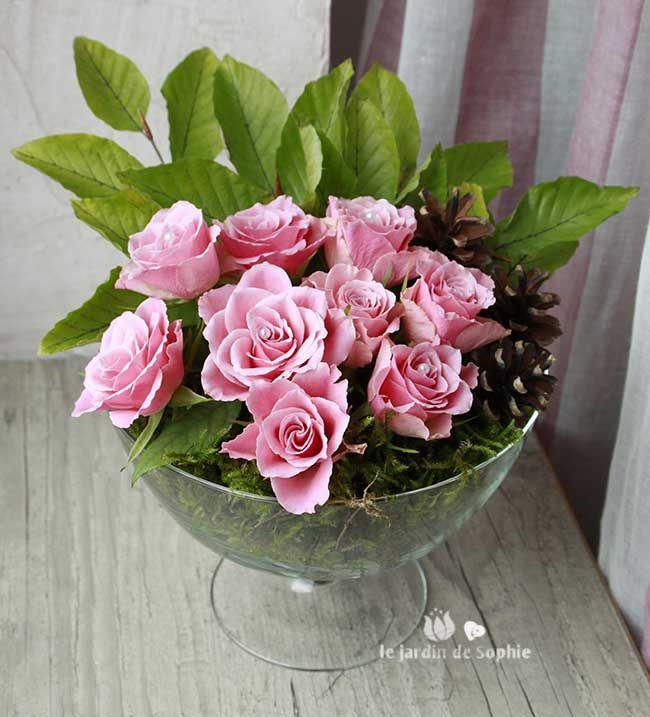 coupe de fleurs automnales art floral pinterest la pomme de pin pommes de pin et composition. Black Bedroom Furniture Sets. Home Design Ideas
