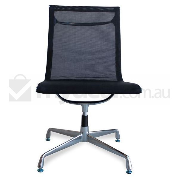no arms black mesh office chair eames replica pinterest mesh
