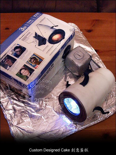 3D light cake (all edible...except the LED light inside) this is for a lighting company.