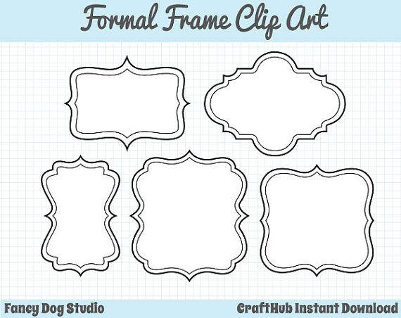Frame Clipart, Digital Borders, Digital Frame Clip Art, Royalty Free ...