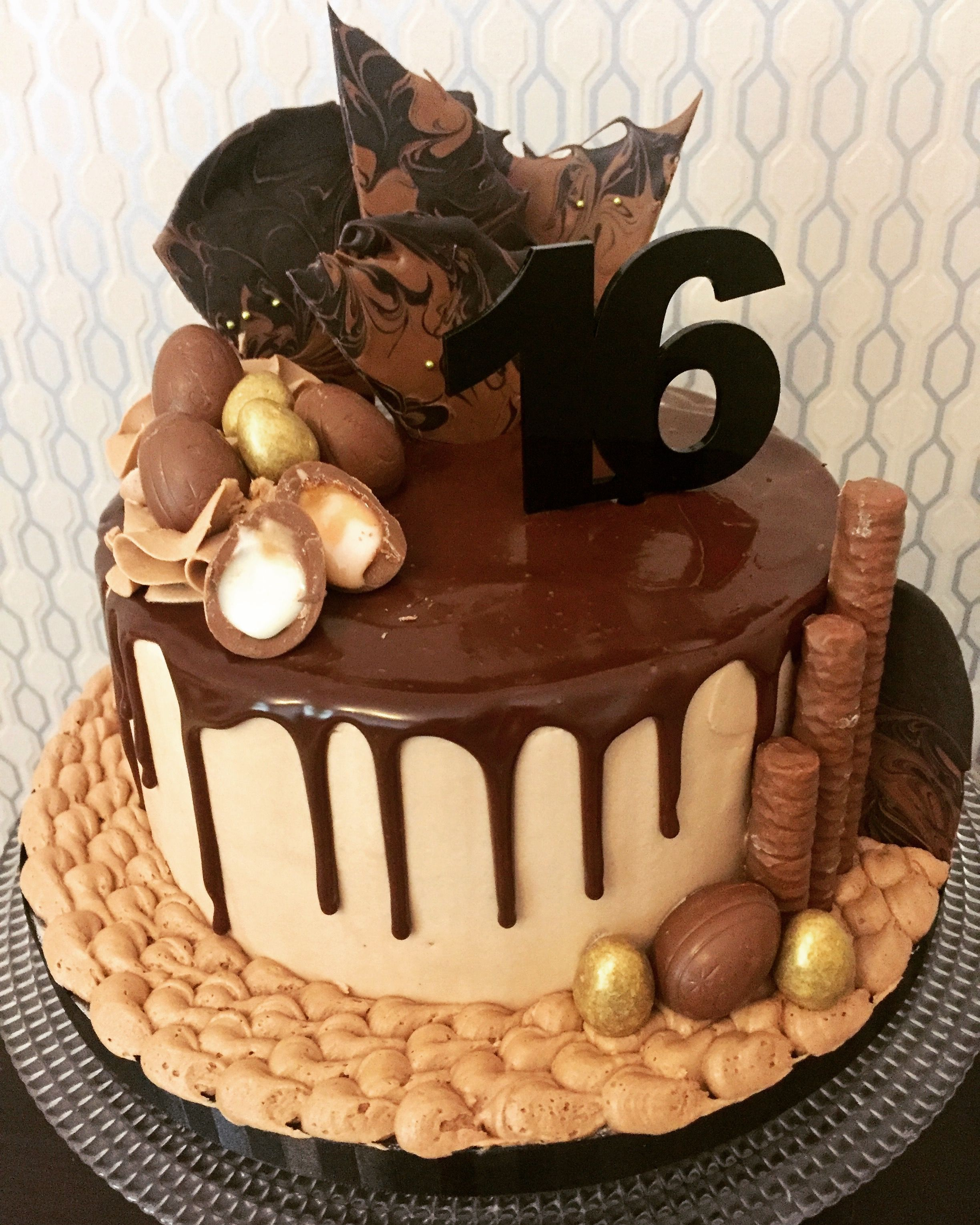16th Birthday Cake Chocolate Ganach Drip Cake Sweet 16