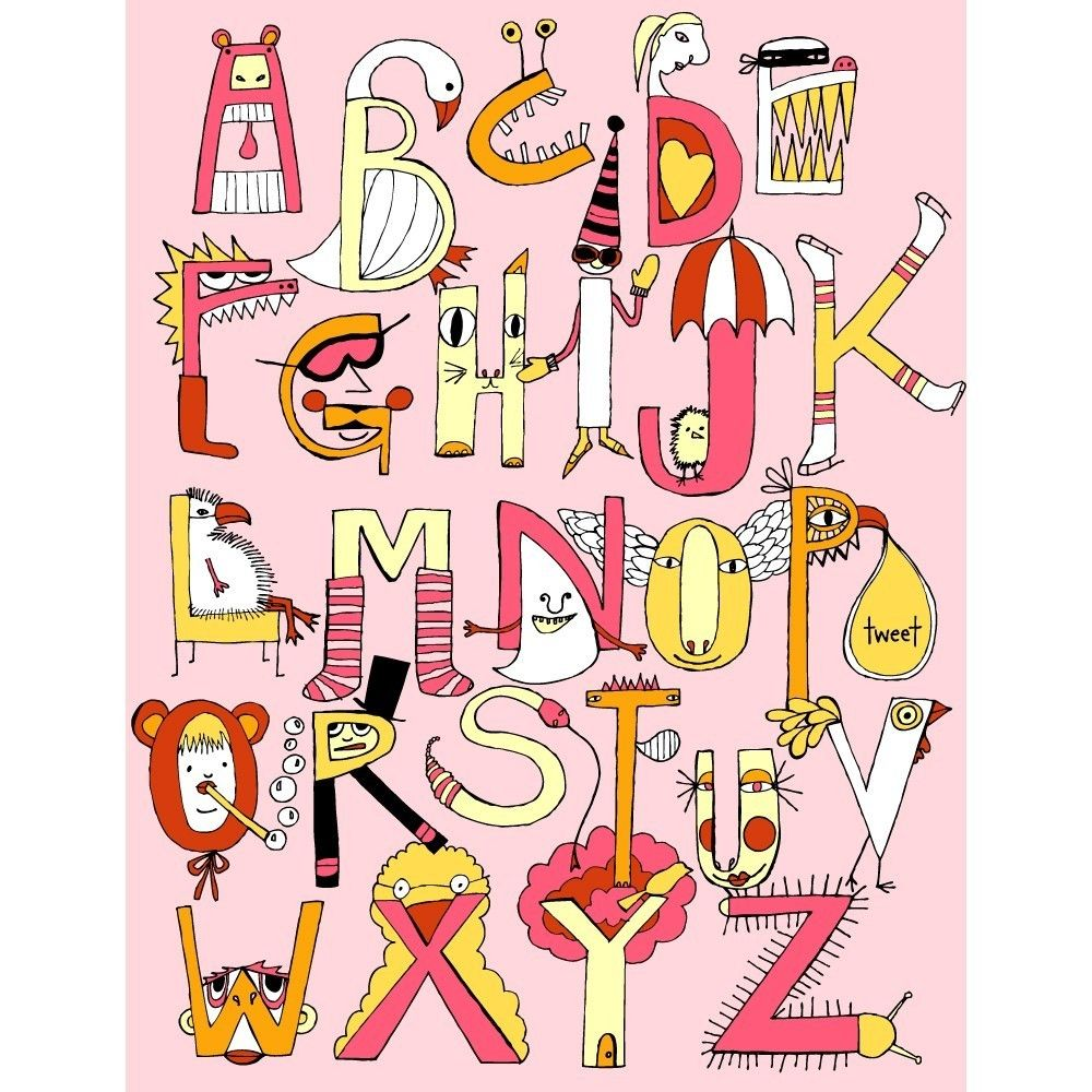 PRINT critters and creatures pink version. $20.00, via Etsy. | Kid ...