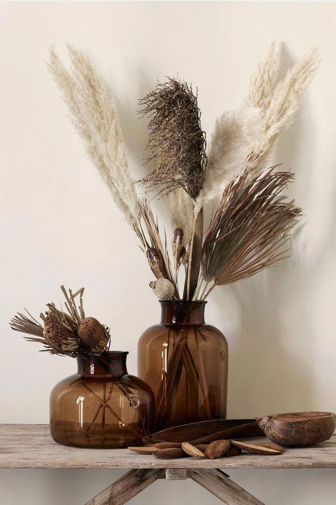 Tall Glass Vase Brown Home All H M Us Decoratieve Vazen Decoratie Klein Appartement Vaas Ideeen