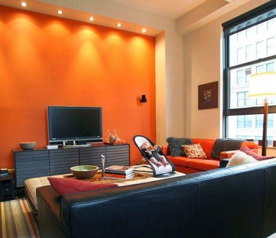 Decora hogar salas decoradas de chocolate y naranja 10 for Decoracion hogar naranja