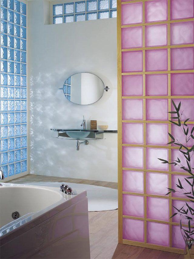 Paredes de cristal de pav s casa ideas glass blocks - Paves vidrio ...