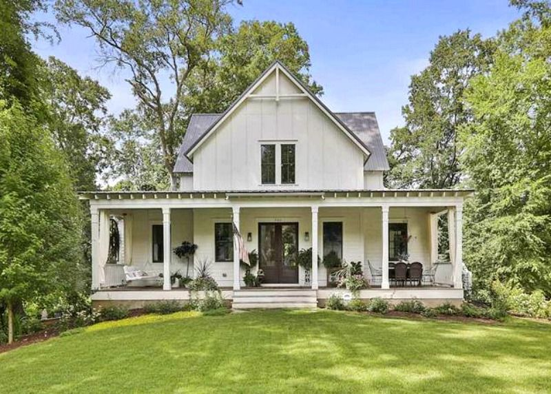 A Modern Farmhouse Featured in Country Living For Sale in Georgia - Hooked on Houses