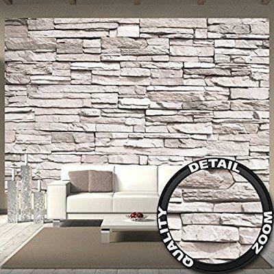 Steinmauer Wandverkleidung fototapete white stonewall wandbild dekoration steintapete 3d stein