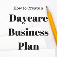 home child care business plan
