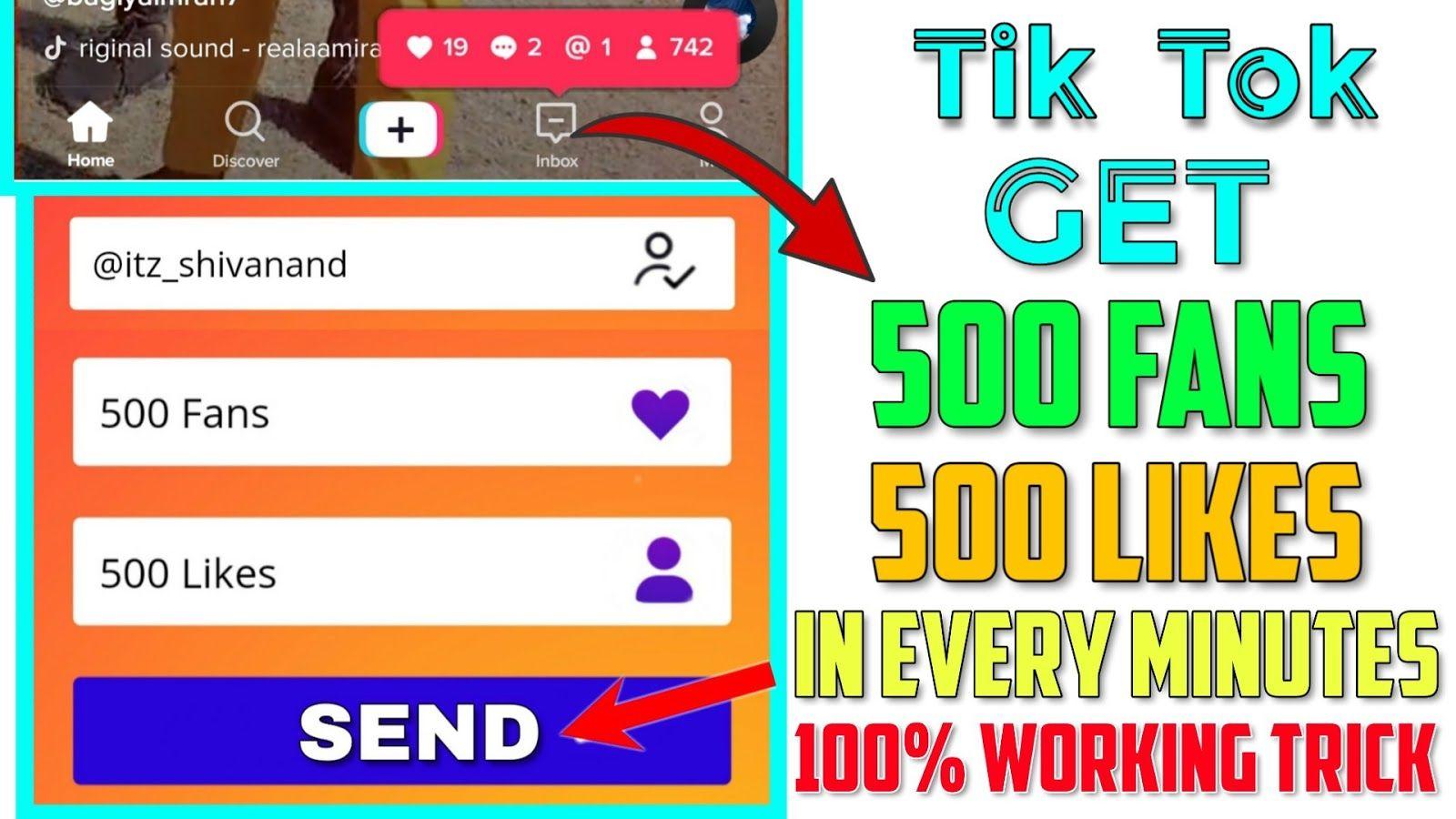 Fake Tiktok Followers No Verification Free Tiktok Likes And Followers No Verification Tiktok More Likes 100 Free Free Followers How To Get Followers Likes App