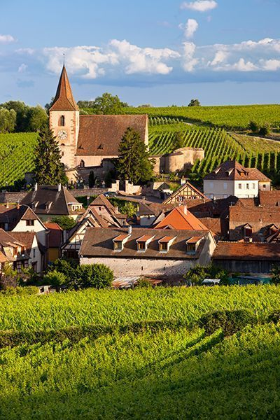 Village of Hunawihr, Alsace, France