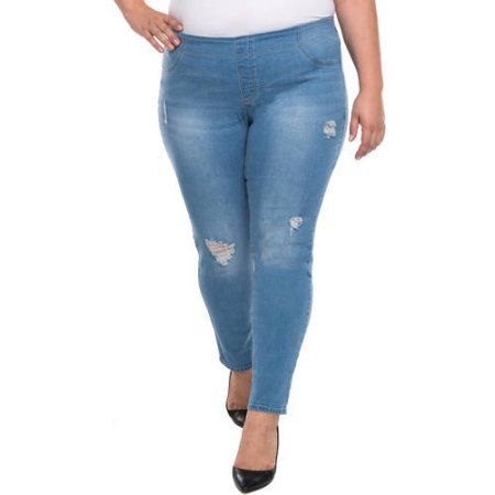 Plus Size Faded Glory Women's Plus Pull-On Skinny Jean, Size: 4XL ...