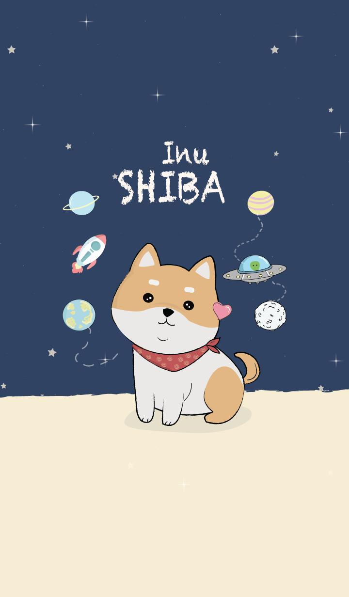 Shiba Inu Dog Line Theme Line Store Minh Họa động Vật Nhật Ky Nghệ Thuật Shiba Inu